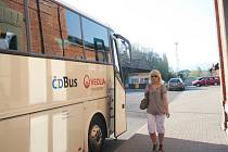 ČD BUS před železniční stanicí ve Frýdku-Místku.