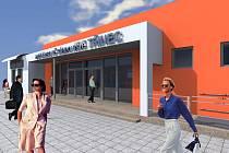 Vizualizace výpravní budovy na autobusovém stanovišti v Třinci-Starém Městě. Takto by měla vypadat v září.