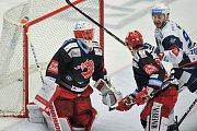 Finále play off hokejové extraligy - 2. zápas: HC Oceláři Třinec vs. HC Kometa Brno, 15. dubna 2018 v Třinci. Gol na 0:1 - Hrubec Šimon.