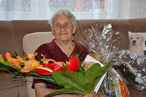 100 let oslavila Pavla Šuláková z Třince. Foto: archiv města Třince