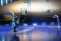 Zkouška na sobotní premiéru muzikálu Mrazík na ledě ve VSH ve Frýdku.