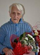 Květoslava Votavová oslavila v pátek sté narozeniny.