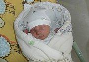 Sebastián Odehnal, Pražmo, nar. 3. 11., 49 cm, 3,07 kg. Nemocnice ve Frýdku-Místku.