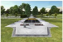 Vizualizace nové centrální části frýdeckého hřbitova.