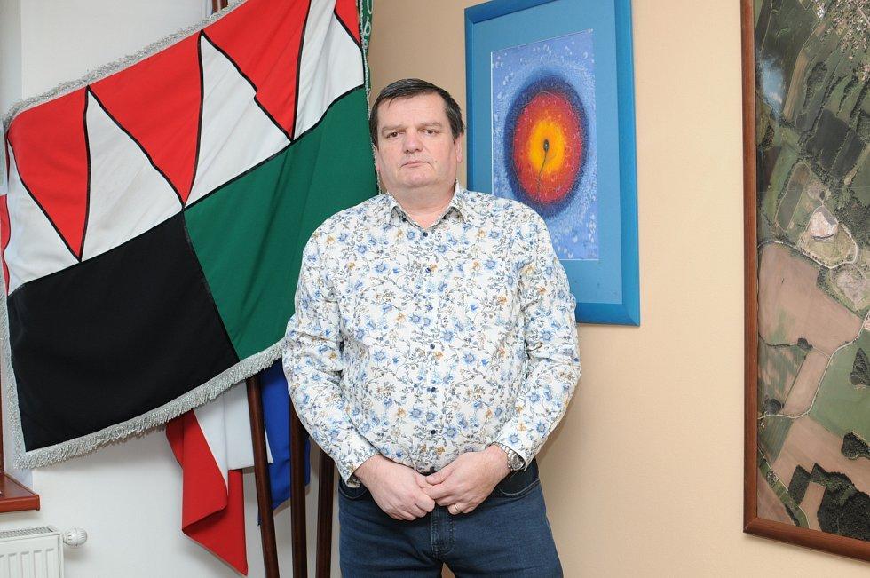 Strarosta Staříče Libor Macháček, březen 2021.
