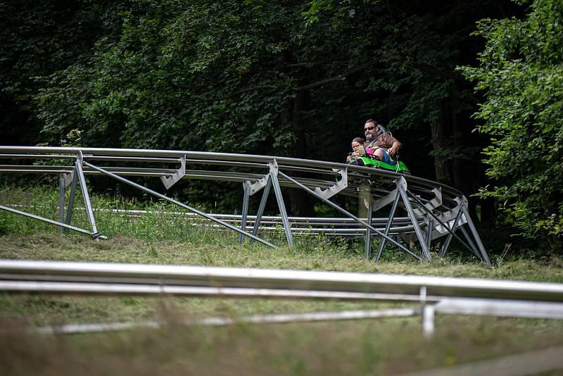 Bobová dráha Boboffka na Čeladné, 14. července 2020.