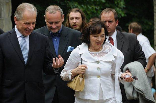 Zahájení XV. ročníku Janáčkovy Hukvaldy byla v sobotu 28. června přítomna i první dáma České republiky Lívie Klausová.