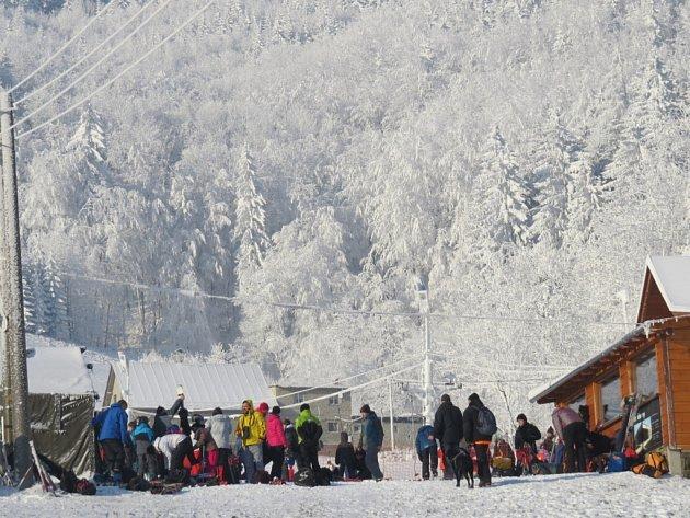 Ski areál ve Pstruží.