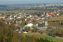 Pohled na Palkovice z místní sjezdovky.