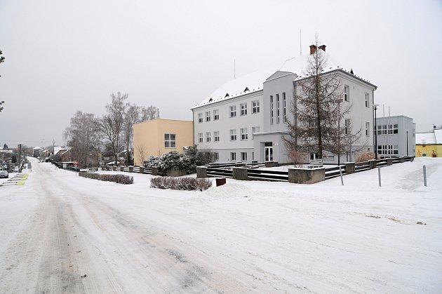 Obec Sedliště, zima 2021.