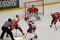 Hokejisté Frýdku-Místku vedou v semifinálové sérii nad svým soupeřem z Poruby 1:0.  Ilustrační snímek.