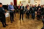 Kandidát na prezidenta ČR Jiří Drahoš se svou manželkou na návštěvě v rodném Jablunkově.