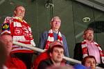 Kandidát na prezidenta ČR Jiří Drahoš se svou manželkou zavítal na hokejový zápas Champions League HC Oceláři Třinec a JYP Jyväskylä.