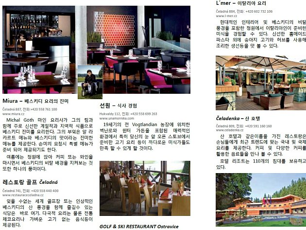 Jedna ze stránek informačního webu v korejštině.