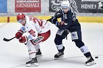 Petr Vrána (vlevo) si zahraje proti Plzni rozhodující sedmý zápas. Kvůli takovým to hrajeme, tvrdí.