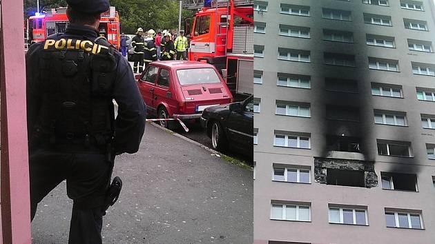 Přes 200 lidí bylo evakuováno z dvanáctipatrového domu v ulici Jaroslava Lohrera ve Frýdku-Místku. V sedmém patře hořela ložnice dvoupokojového bytu.