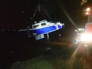 Záchrana lodě na Olešné.