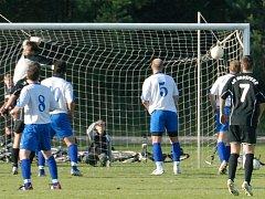 Fotbalový zápas Brušperk versus Stará Bělá