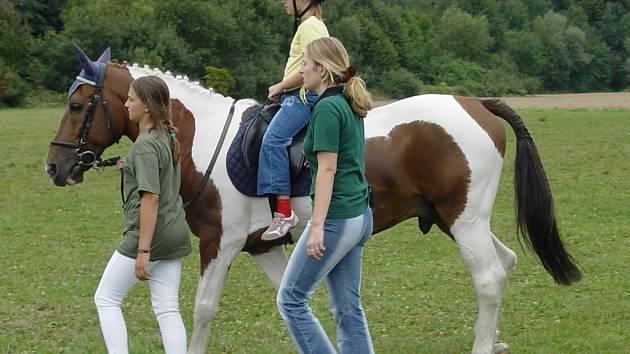 Vyjížďka na koni.