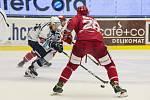 Oceláři (v červeném) zvládli duel na ledě Plzně bezchybně.