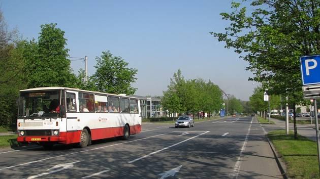Lidická ulice v Třinci.