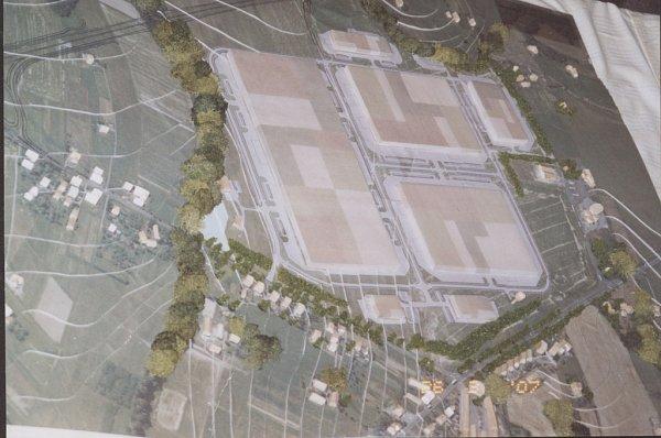 Model budoucí podoby průmyslové zóny vHorních Tošanovicích.