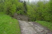 Sesuv půdy v Bukovci. Ilustrační foto.