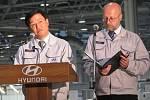 V nošovické automobilce Hyundai začala v pátek 1. července sériová výroba modelu Hyunai ix35.