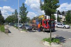 Odtahování vozidel kvůli čištění.