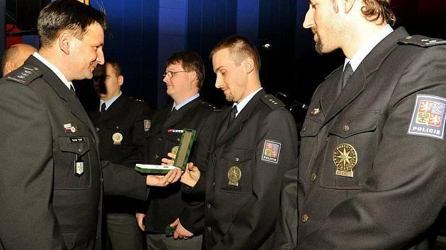 Slavnostní shromáždění policistů z okresu Frýdek-Místek.