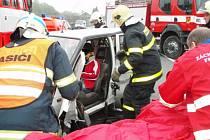 Foto z dopravní nehody v Hodoňovicích.