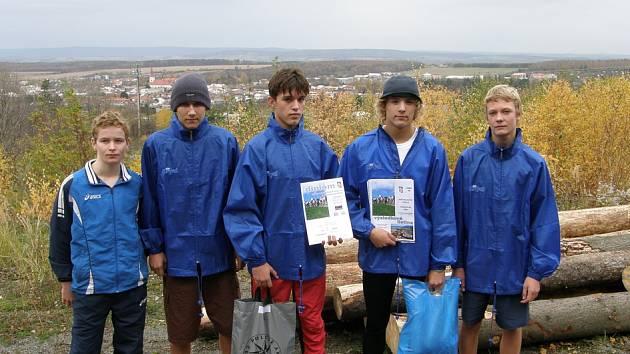 Nadějní běžci ze Základní školy Bystřice nad Olší.