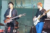 Kapela Charlie Straight při koncertu Srdce Evropy.