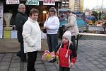 Třinecká důchodkyně Lidie Vítková přišla s manželem, dcerou a vnučkou.