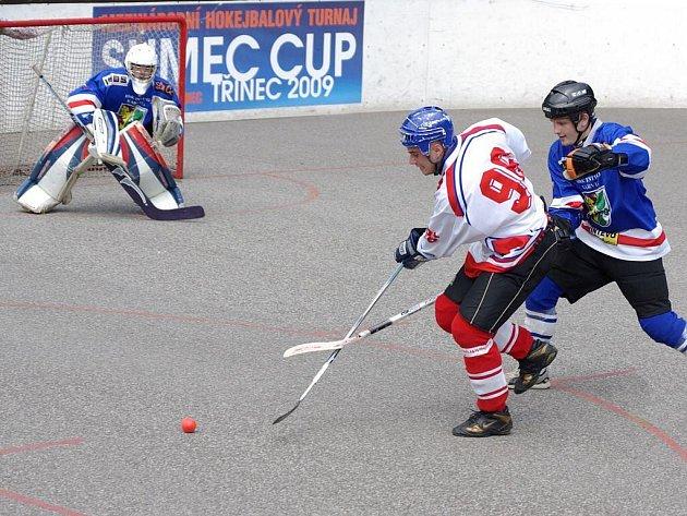 Snímek z utkání HBC Třinec – Intevo Karviná.