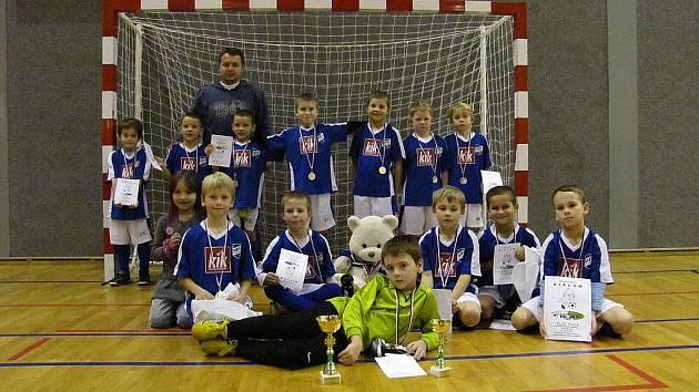Kozlovice hostily turnaj benjamínků. Na snímku tým Frýdku-Místku