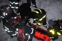 Noční cvičení hasičů v Beskydech