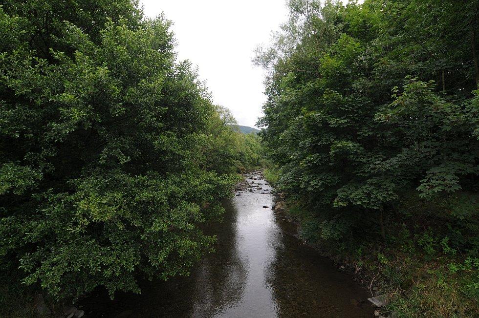 Řeka Morávka.