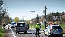 Smrtelná nehoda cyklisty s automobilem, Ostravice, Frýdecko-Místecko, 9. května 2021.