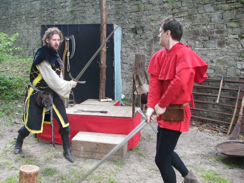 Rytířské souboje byly k vidění v sobotu a neděli na hradě Hukvaldy.