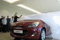 Představení nového vozu Hyundai ix20 v Nošovicích.