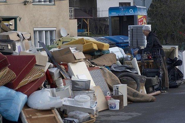 Sběr velkoobjemového odpadu. Ilustrační foto.
