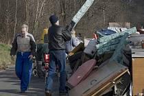 Sběr velkoobjemového odpadu v Brušperku.