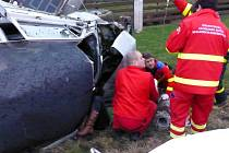 Zásah záchranářů u vážné nehody v Morávce.