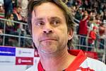 Exhibiční utkání legend v repríze finále z roku 1998 mezi HC Železárny Třinec - Petra Vsetín, 8. listopadu 2019 v Třinci. Radovan Biegl.