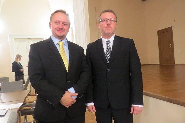 Jablunkov povede zpozice starosty Jiří Hamrozi (vlevo) a místostarosta Luboš Čmiel.