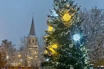 Vánoční strom ve Frýdlantu nad Ostravicí.