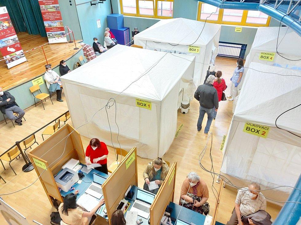 Očkovací centrum v Třinci.