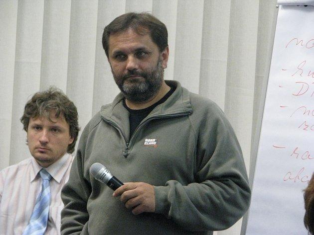 Projektant a zahradní architekt Martin Kovář na třineckém zastupitelstvu.