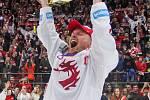 Finále play off hokejové extraligy - 6. zápas HC Oceláři Třinec - Bílí Tygři Liberec, 28. dubna 2019 v Třinci. Na snímku radost Třince.
